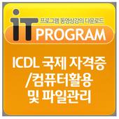 ICDL 국제 자격증/컴퓨터활용및 파일관리 icon