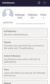 Unfollowers & Followers Tracker for Instagram poster