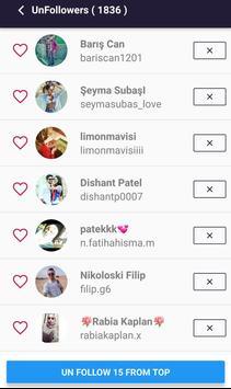 Unfollowers for Instagram screenshot 1