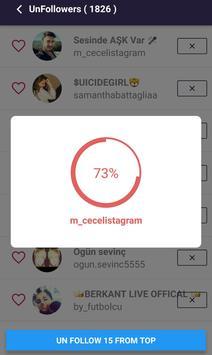 Unfollowers for Instagram screenshot 2