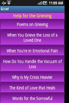 Help for the Grieving apk screenshot