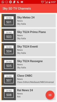 Sky SD TV Channels apk screenshot