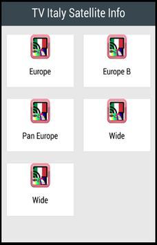 TV Italy Satellite Info poster