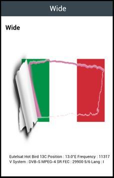 TV Italy Satellite Info screenshot 1