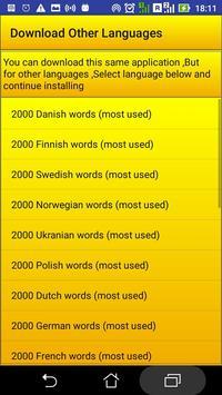 2000 Italian Words (most used) apk screenshot