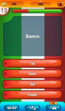 Italian Vocabulary Quiz screenshot 10