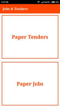 Jobs & Tenders Ads from Newspapers poster