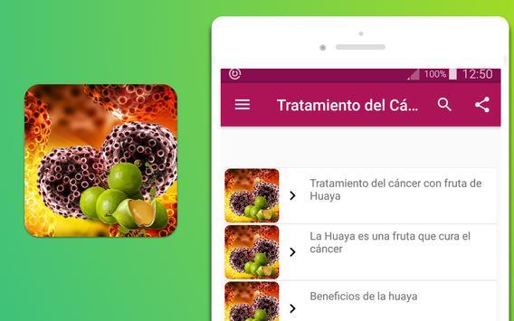 Tratamiento del cáncer con fruta de Huaya screenshot 3