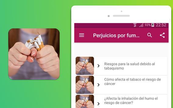 Perjuicios por fumar cigarrillos screenshot 3