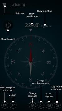 Digital Compass 360 Free - Compass Maps Fengshui screenshot 1