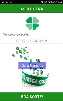 Gerador Mega-Sena screenshot 1