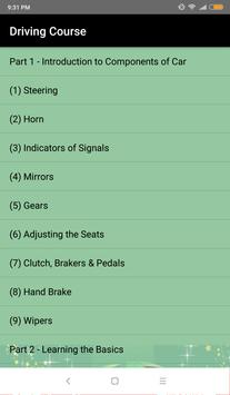 Learn Driving a car in 3 days - Driving Course screenshot 1