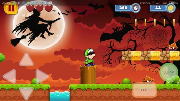 Adventure Halloween Of Mario poster