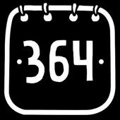 fun calendar for 364 days icon