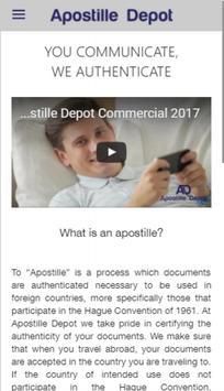 Apostille Depot poster