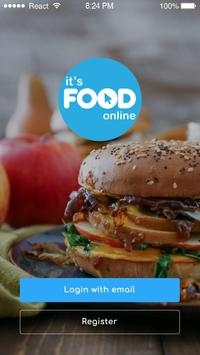 ITS FOOD ONLINE poster
