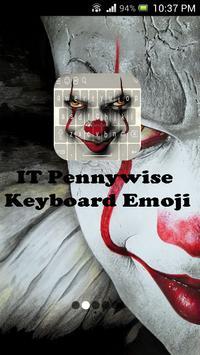 IT Pennywise Keyboard Emoji poster