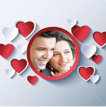 Romantic Love Photo Frames 3D poster