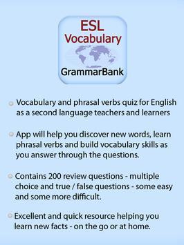 ESL Vocab Quiz - GrammarBank screenshot 14