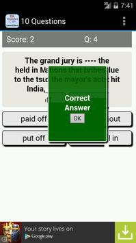 ESL Vocab Quiz - GrammarBank apk screenshot