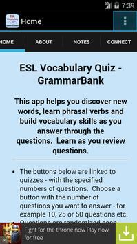 ESL Vocab Quiz - GrammarBank screenshot 1