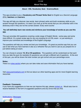 ESL Vocab Quiz - GrammarBank screenshot 20