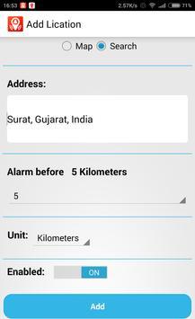 GPS LocationAlert apk screenshot