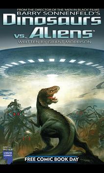 Dinosaurs vs Aliens FCBD poster