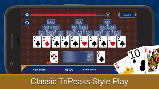 Tri Peaks Solitaire poster