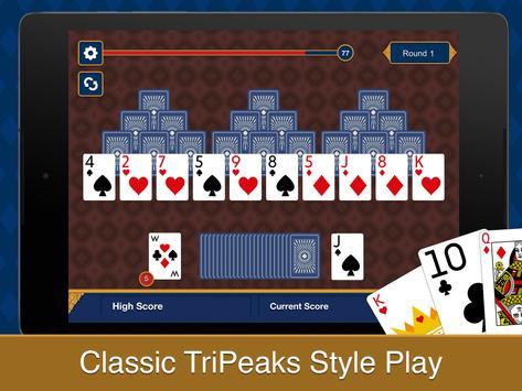 Tri Peaks Solitaire apk screenshot