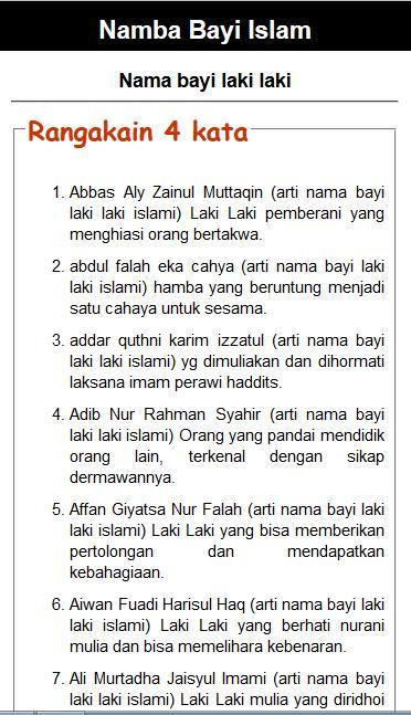 Nama Bayi Islami Laki Laki & Perempuan for Android - APK Download