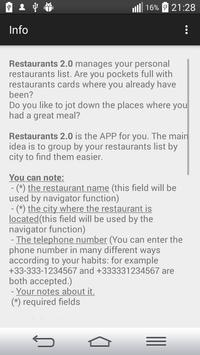 Restaurants 2.0 screenshot 6