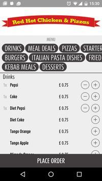 Red Hot Chicken & Pizza UK apk screenshot