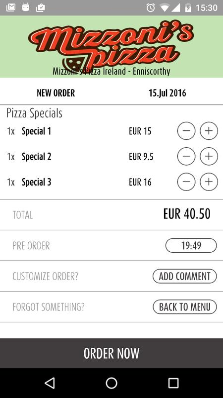 f3b0324d88d4 Mizzoni s Pizza Ireland for Android - APK Download