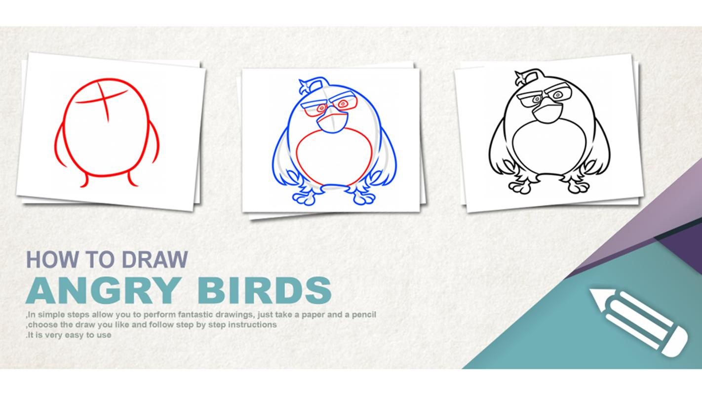 How To Draw Angry Birds For Android