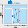 PVC and aluminium window and door design-iwindoor ikona