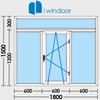 PVC and aluminium window and door design-iwindoor иконка
