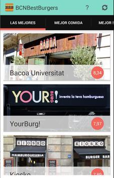 Barcelona Best Burgers poster