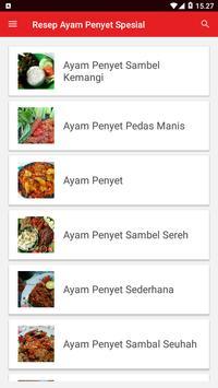Resep Ayam Penyet Spesial screenshot 1
