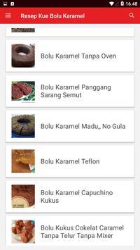 Resep Kue Bolu Karamel screenshot 1