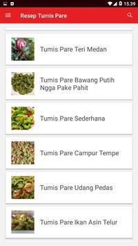Resep Tumis Pare screenshot 1