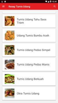 Resep Tumis Udang screenshot 1