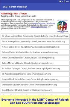 LGBT Center of Raleigh apk screenshot