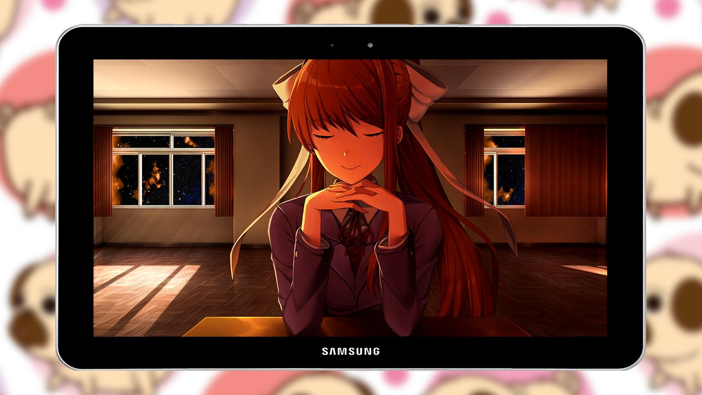 Monika モニカ Anime Live Wallpaper For Android Apk Download