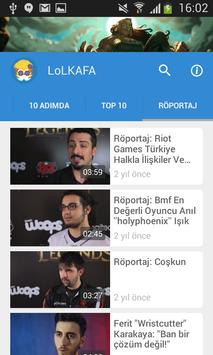LoLKAFA - Oyun Videoları apk screenshot