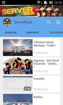 Server Butik - Oyun Videoları apk screenshot