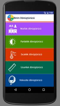 Birim Dönüştürücü screenshot 2