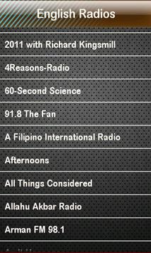 English Radio English Radios apk screenshot