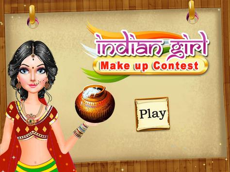 Indian Girl Make Up Contest poster