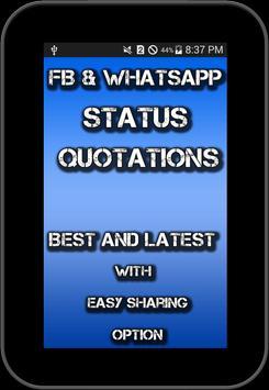 Status For FB and Whatsapp screenshot 7